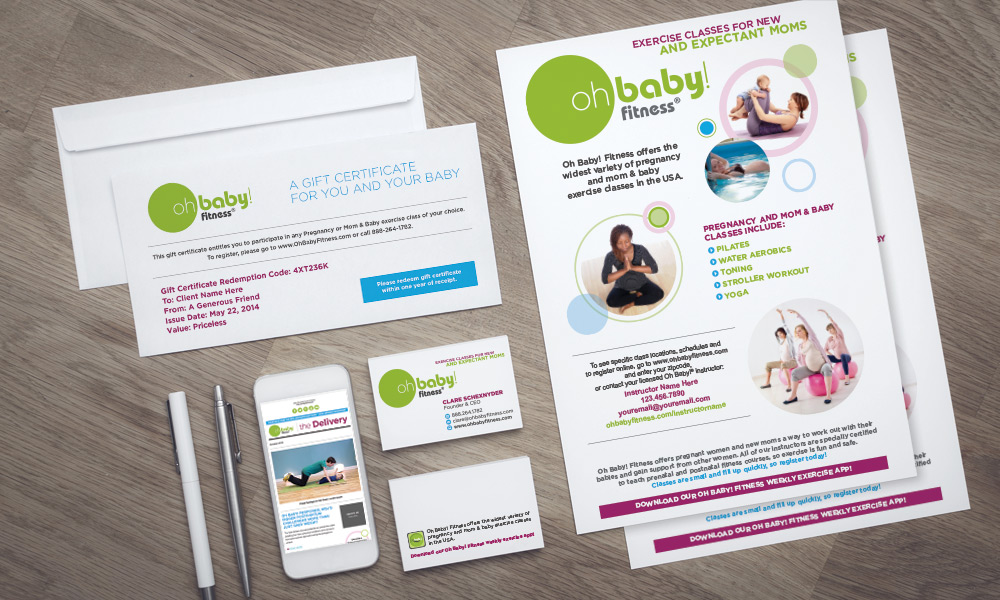 oh baby fitness brand identity design atlanta creative direction